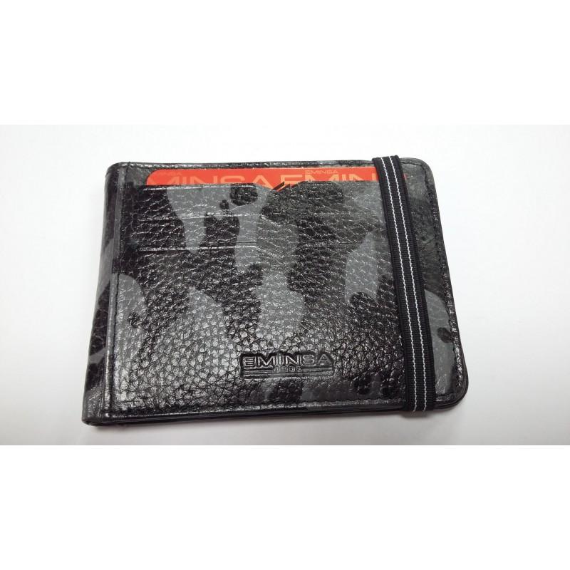 Кредитница визитница бумажник комуфляжный из натуральной кожи на резинке 1098 43-11  - фото 1